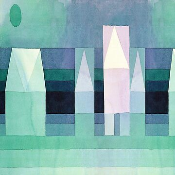 Stretched Version - Three Houses by Paul Klee by TheCurators
