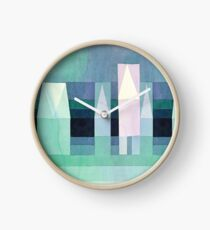 Stretched Version - Three Houses by Paul Klee Clock