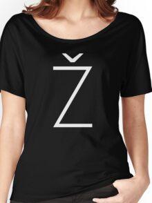 Žižek's Ž (white, thin Z) Women's Relaxed Fit T-Shirt