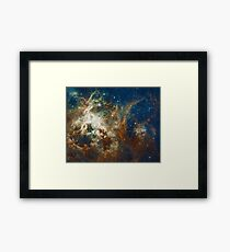 Tarantula Nebula Galaxy Space Photo Framed Print