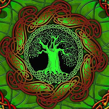 Celtic Tree - Illuminated version  by IceFaerie