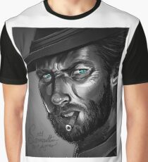 Clint Eastwood Black and White Graphic T-Shirt