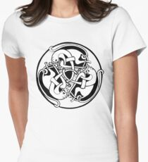 Celtic Kitties at a Bath Women's Fitted T-Shirt