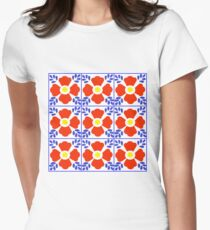 Talavera tiles 10. Womens Fitted T-Shirt