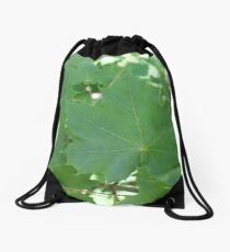 Maple leaf, Maple leaves, maple tree leaf, green maple leaf, maple tree Drawstring Bag