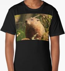 Close Encounter with a Groundhog Long T-Shirt