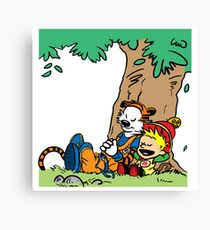 Calvin and Hobbes Budokai Canvas Print