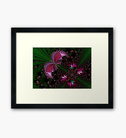 Fractal Red Butterfly Framed Print