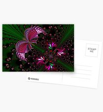 Fractal Red Butterfly Postcards