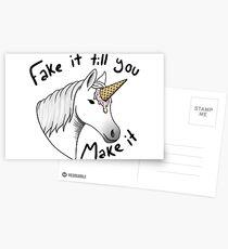 fake it till you make it Postcards