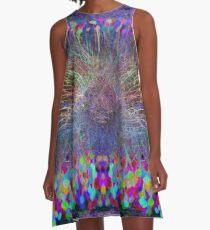 The Gold at the End of the Brainbow A-Line Dress