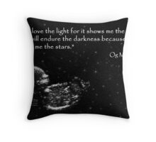 Little Light Lost Sympathy Card Throw Pillow