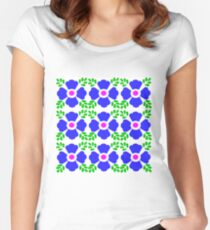 Talavera tiles 5. Women's Fitted Scoop T-Shirt