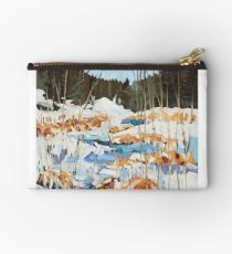 Winter in Gatineau Park Studio Pouch