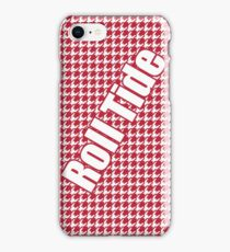 Houndstooth, hounds tooth, crimson, white, alabama, roll tide, fabric, woven iPhone Case/Skin