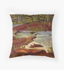Red Rocks in Algonquin Park Throw Pillow