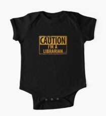 CAUTION I'm a Librarian - Funny Metal Danger Warning Sign Kids Clothes