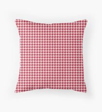 Houndstooth (CRIMSON & WHITE) Throw Pillow