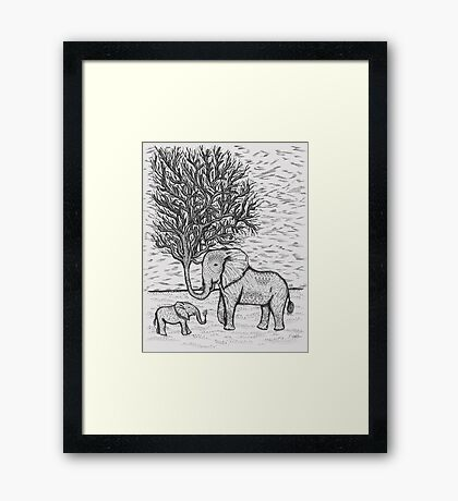 THE TALL TALE OF THE ELETRUNKS Framed Print
