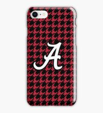 houndstooth, hounds tooth, crimson, white, alabama, roll tide iPhone Case/Skin