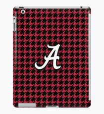 houndstooth, hounds tooth, crimson, white, alabama, roll tide iPad Case/Skin