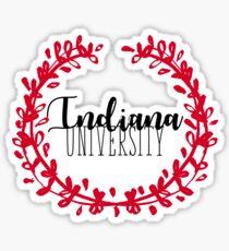 Indiana University Wreath Sticker