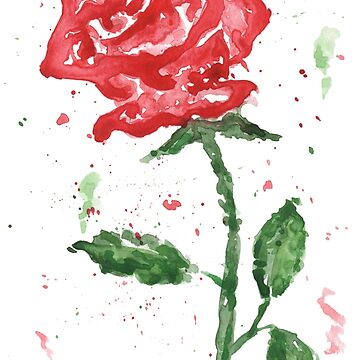 Watercolor Rose by khelland