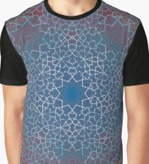 Floral Double Layer Large Lock - Textured  Graphic T-Shirt