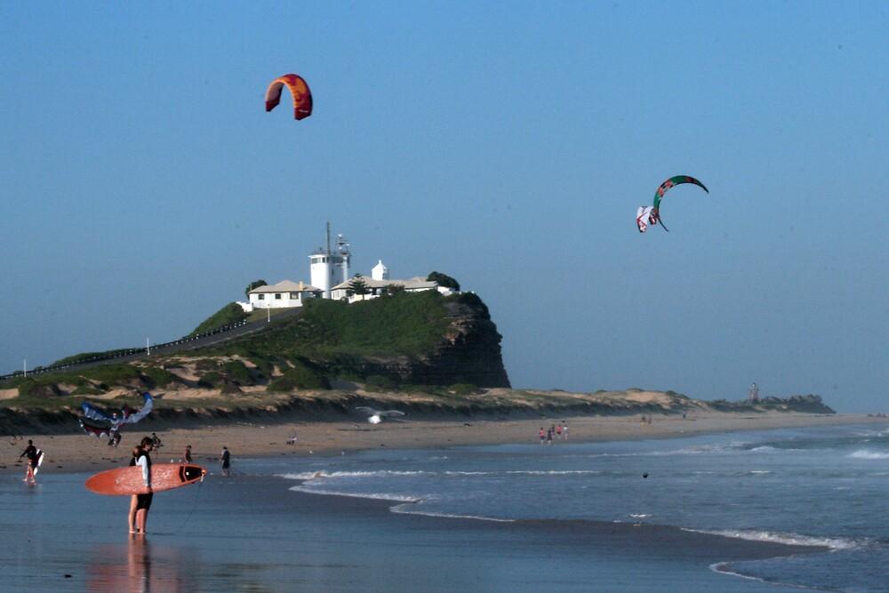 Nobby's Beach Newcastle by Norma Blackburn