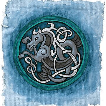 Celtic Sea Horse Paintng by IceFaerie