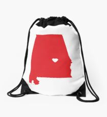 Alabama Love Drawstring Bag