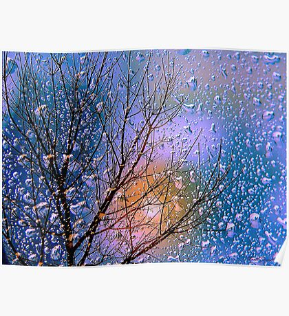 The colours of rain - spring blue Poster
