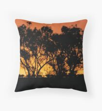 Gums on Red Throw Pillow