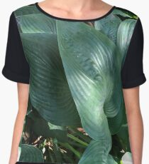Green Women's Chiffon Top