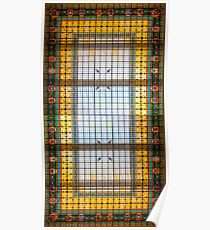 Glass ceiling at the Museo Naval de Madrid  Poster