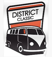 District Classic Logo Poster
