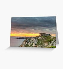 WWII Bunker at Sunset, France Greeting Card