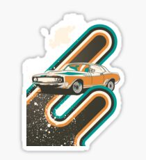 Retro Race Car Sticker