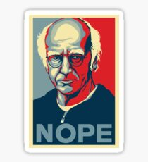Larry David NOPE Sticker