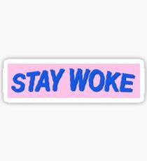 STAY WOKE WAVY BLUE Sticker