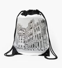 The walled City of Quebec, Canada Drawstring Bag