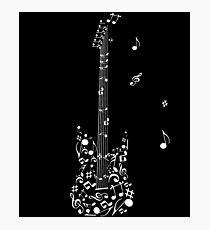 Guitar Musical Notes Shirt Photographic Print