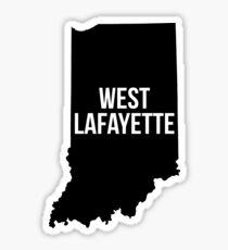 West Lafayette, Indiana Silhouette Sticker