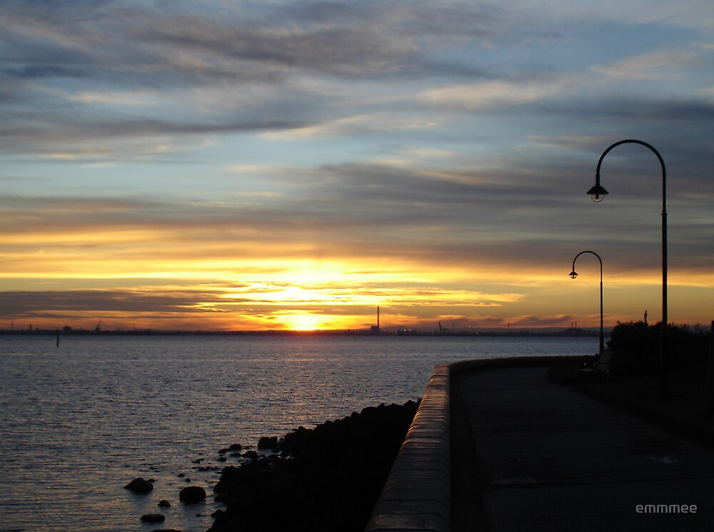 Bay Walk at Sunset by emmmee