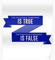 Silly True or False Mind Teaser Funny Design Poster
