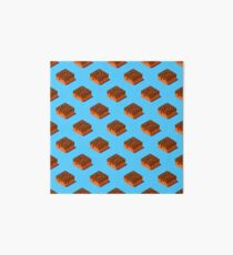 Seamless pattern of cubic chocolate donuts. Art Board