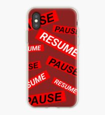 pause and resume iPhone Case