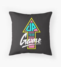 Up your game - Flat version Throw Pillow