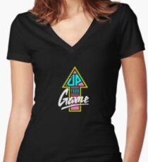 Up your game - Flat version Women's Fitted V-Neck T-Shirt