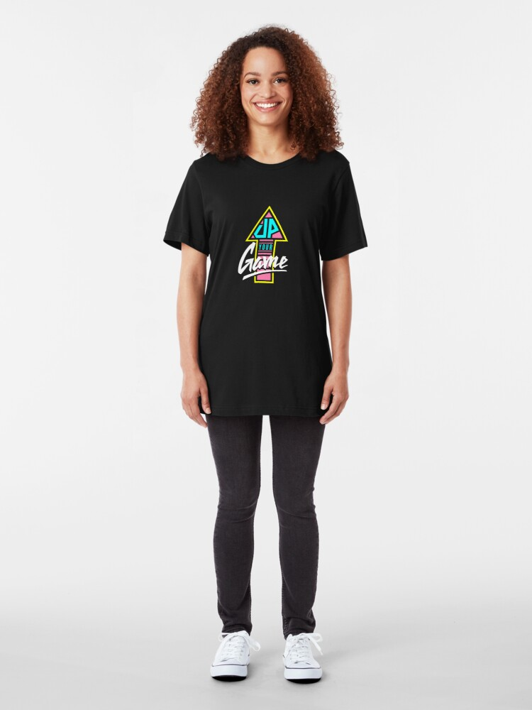 Alternate view of Up your game - Flat version Slim Fit T-Shirt